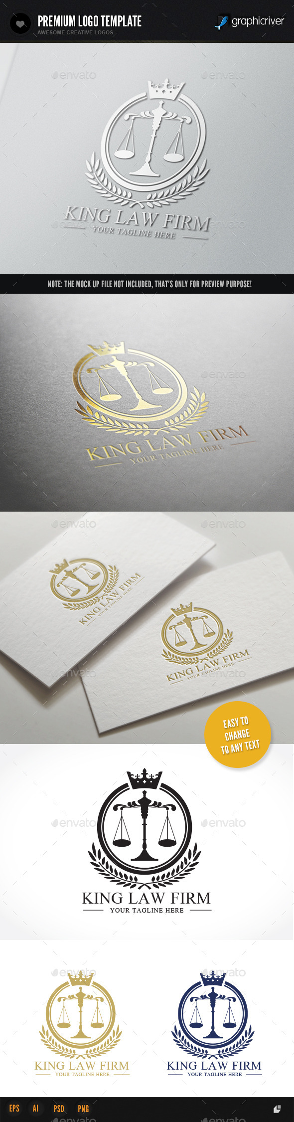 GraphicRiver King Law Firm 9240570
