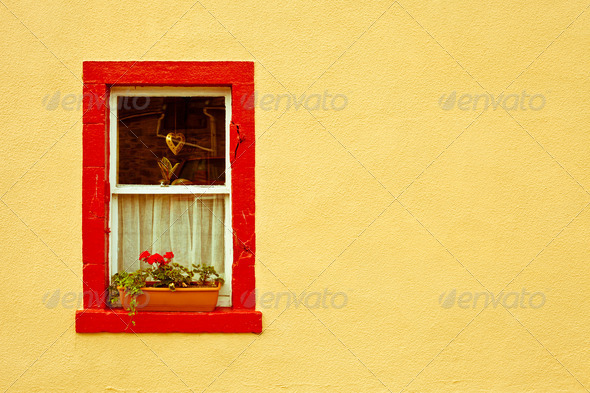 Cottage window - Stock Photo - Images