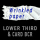 Wrinkled paper LOWER THIRD & CARD BACKGROUND –pack - VideoHive Item for Sale