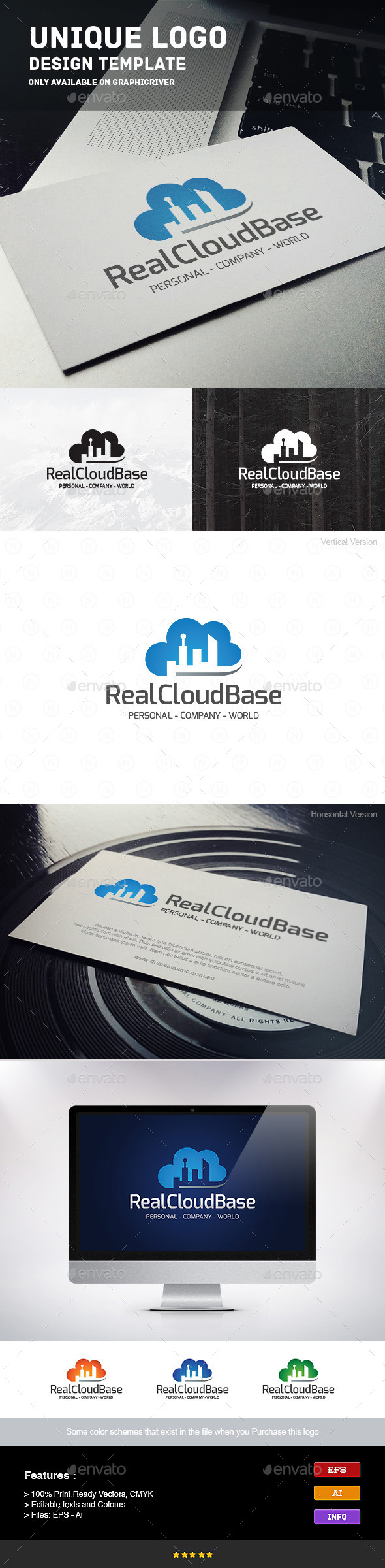GraphicRiver Real Estate Cloud Base 9241085