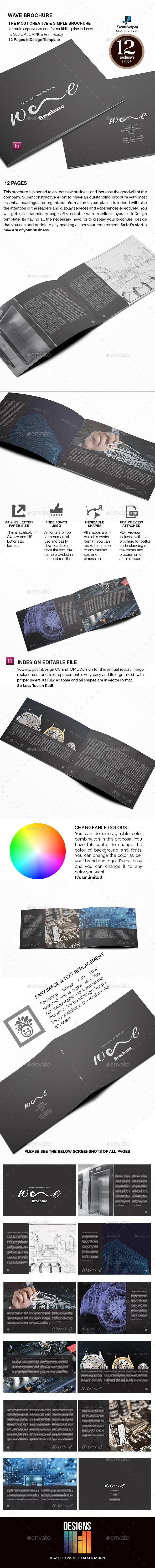 GraphicRiver Wave Landscape Brochure 9241108