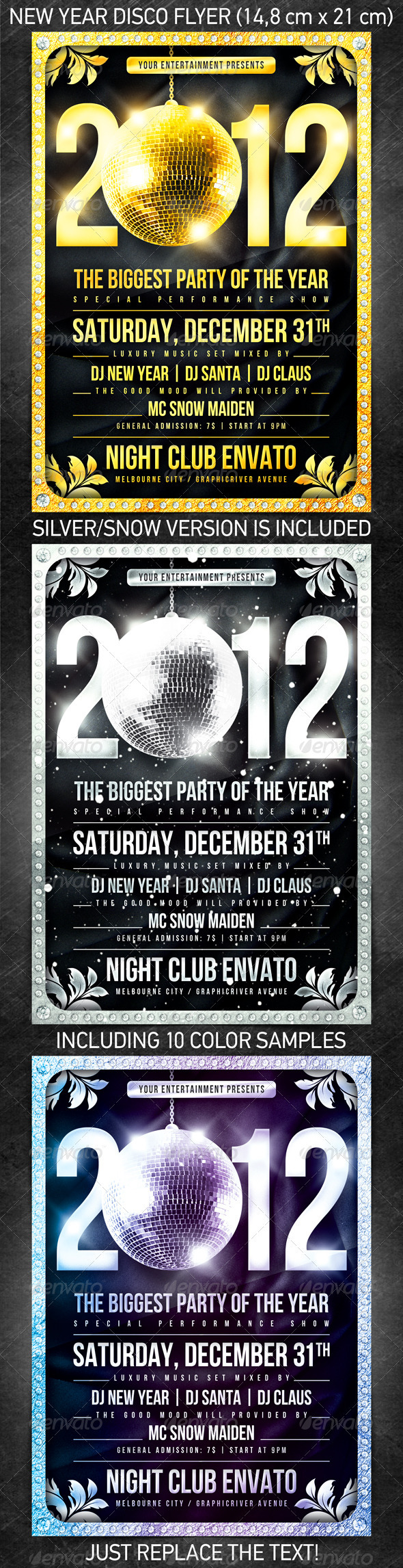 GraphicRiver New Year Disco Flyer 943057