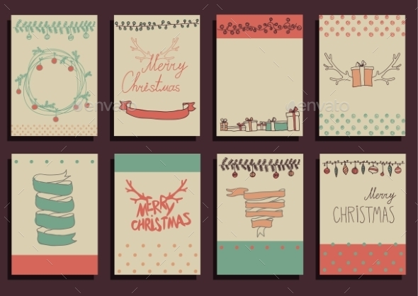 GraphicRiver Vector Set Christmas Calligraphic Design Elements 9241134