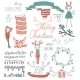 Vector Set Christmas Calligraphic Design Elements - GraphicRiver Item for Sale