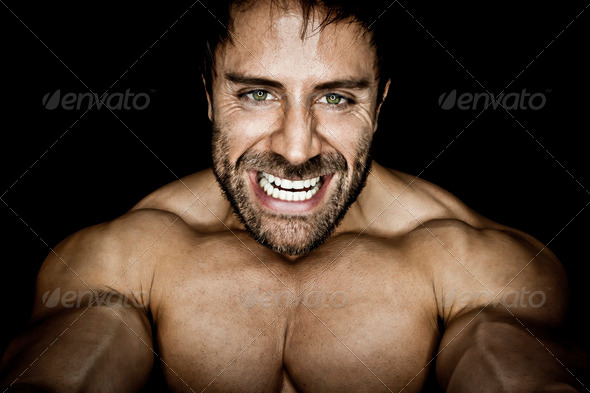 PhotoDune angry muscled bodybuilding man 943106