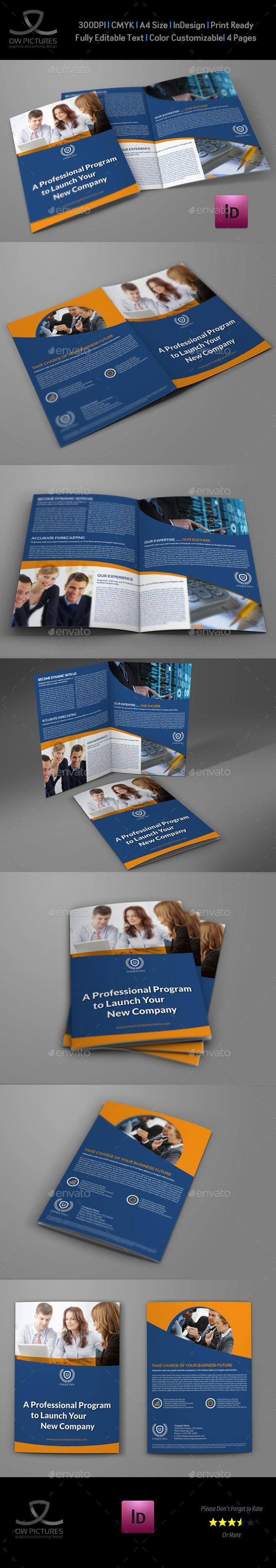 GraphicRiver Company Brochure Bi-Fold Template Vol.35 9241267