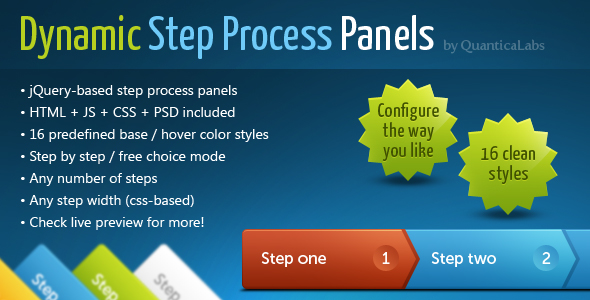 CodeCanyon Dynamic Step Process Panels 118950