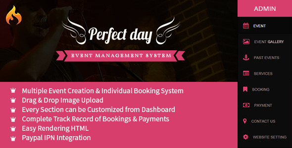 CodeCanyon Event Management System Perfect Day 9241502