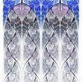 Symmetrical blue fractal flower, digital logarithm - PhotoDune Item for Sale