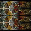 Symmetrical colorful fractal flower, digital logarithm - PhotoDune Item for Sale