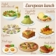 Set of Food Icons. European Lunch - GraphicRiver Item for Sale