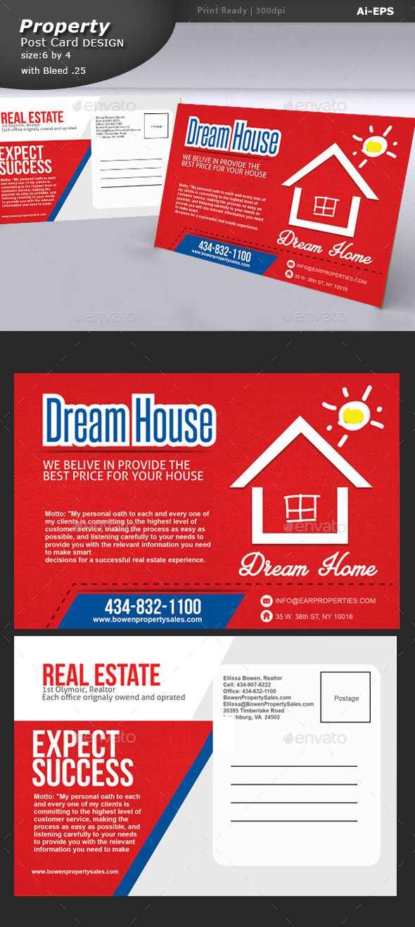 GraphicRiver Property Post Card Design 9241730