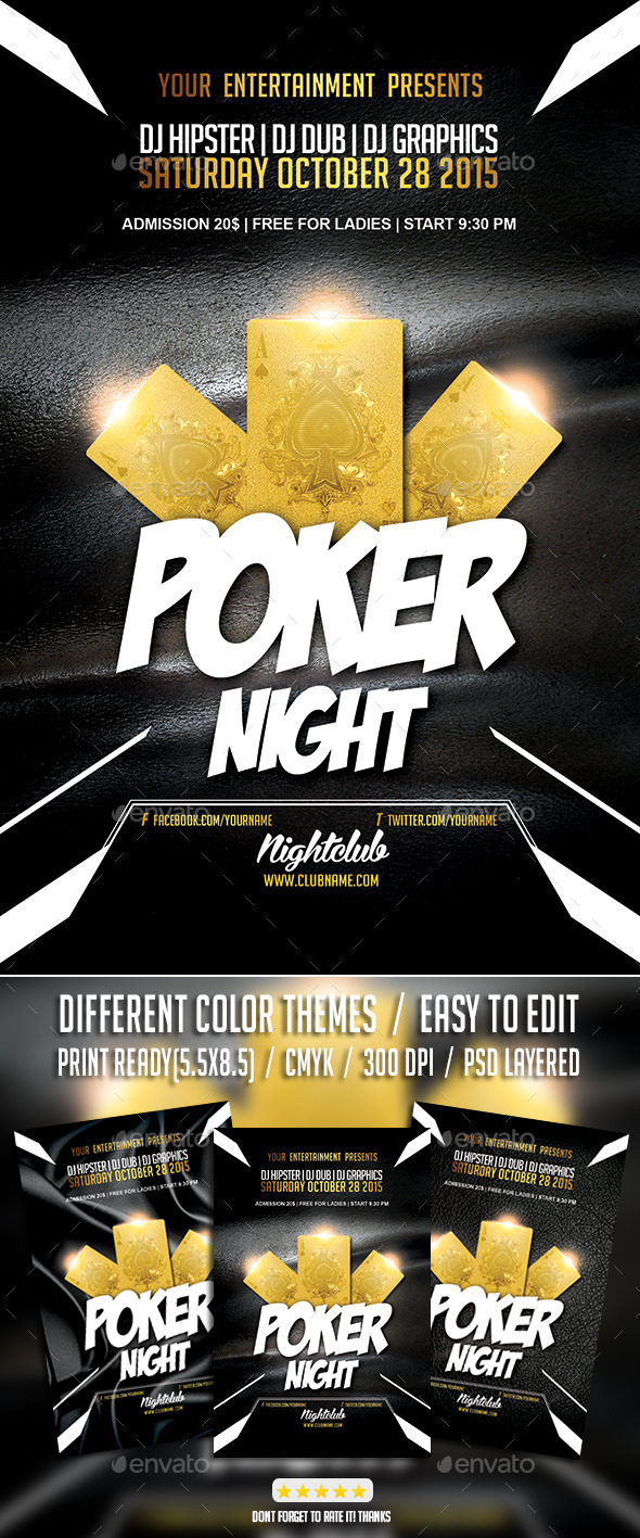 GraphicRiver Poker Night Tournament PSD Flyer Template 9241814