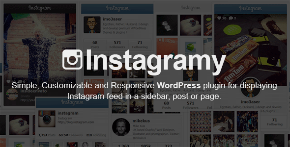 CodeCanyon Instagramy WordPress Plugin 9241826