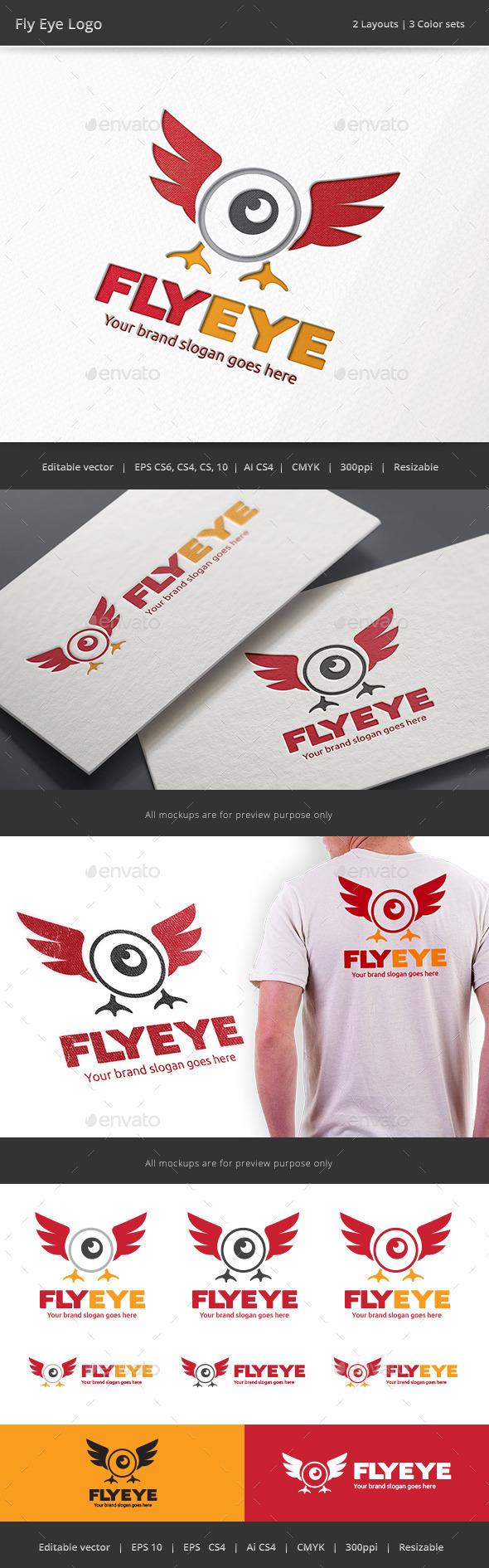 GraphicRiver Fly Eye Logo 9241895