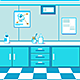 Cartoon Doctor's Office Game Background - GraphicRiver Item for Sale