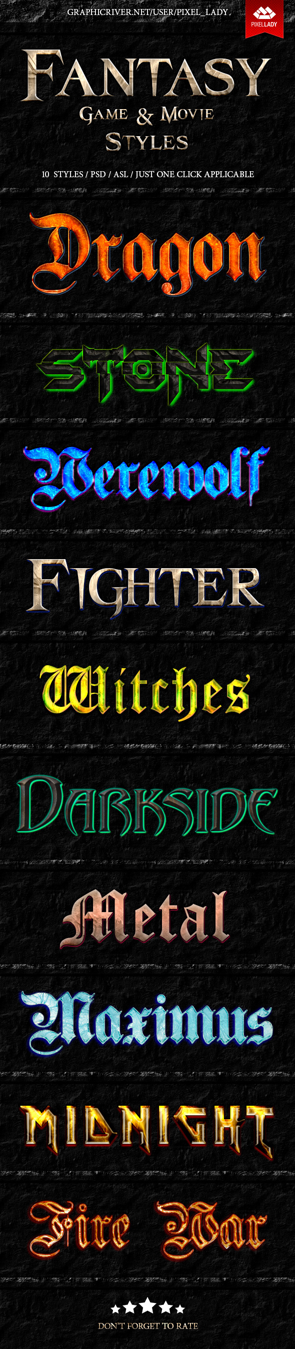 GraphicRiver Fantasy Game and Movie Text Styles 9242027