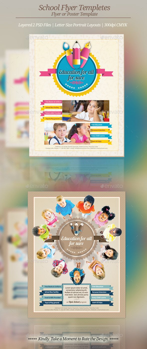 GraphicRiver School Flyer Templates 9242184
