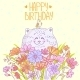 Cat Happy Birthday - GraphicRiver Item for Sale