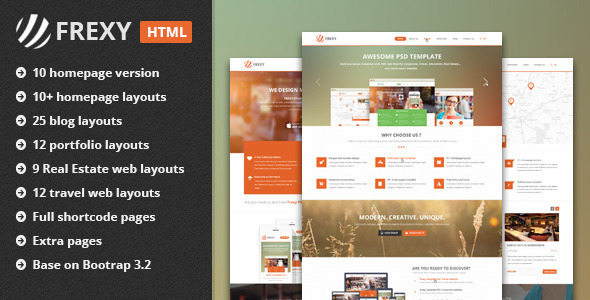 ThemeForest Frexy Responsive Multi-purpose HTML5 Template 9242540