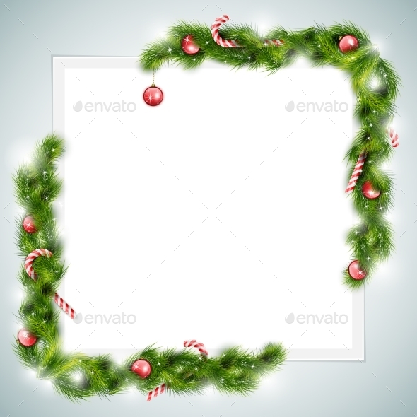 GraphicRiver Blank Sheet of Paper With Christmas Attributes 9242553