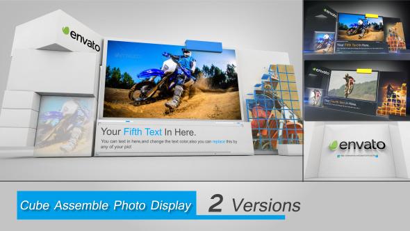 Cube Assemble Photo Display