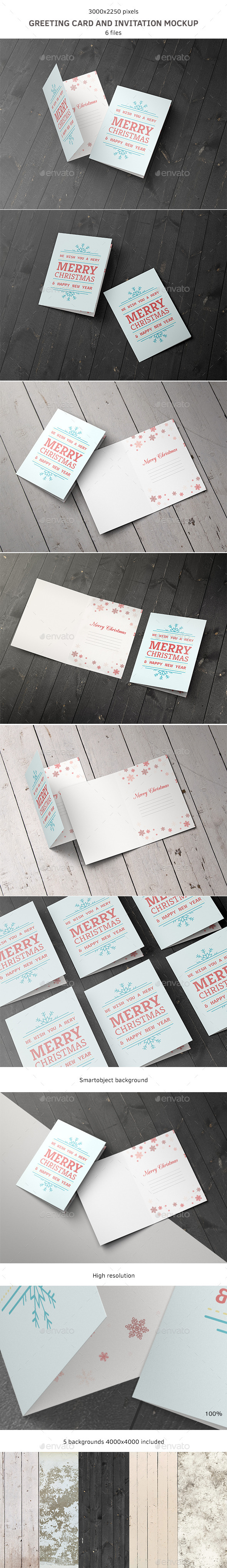 GraphicRiver Greeting Card and Invitation Mockup 9242599