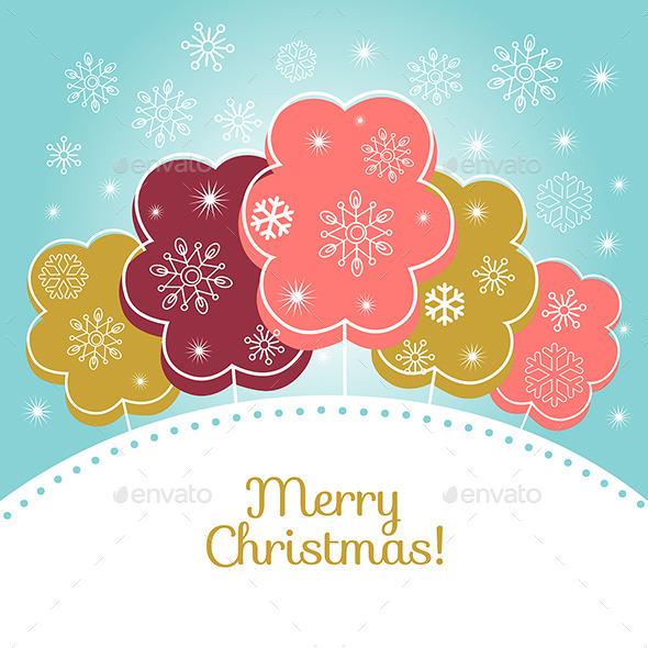 GraphicRiver Merry Christmas Vector Card 9242610