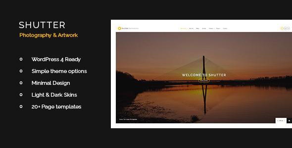 Shutter Photography & Art WordPress Theme