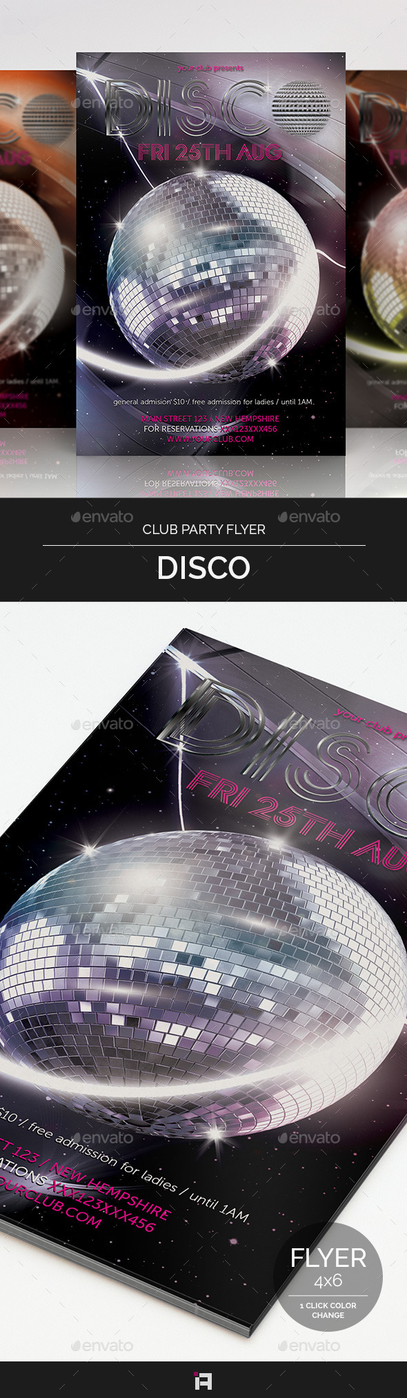 GraphicRiver Disco Club Party Flyer 9242703