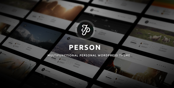 ThemeForest The Person Portfolio Blog Resume MultiSite 9242823