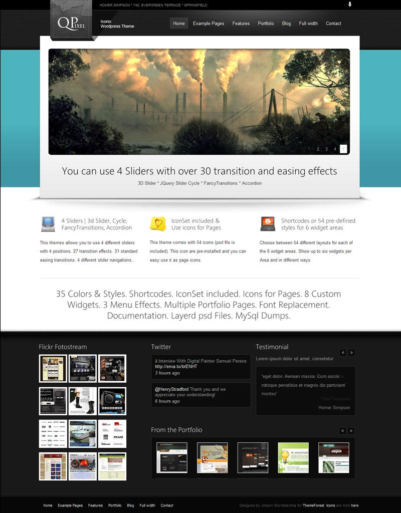 Iconix - Porfolio Blog Business CMS WP 35in1