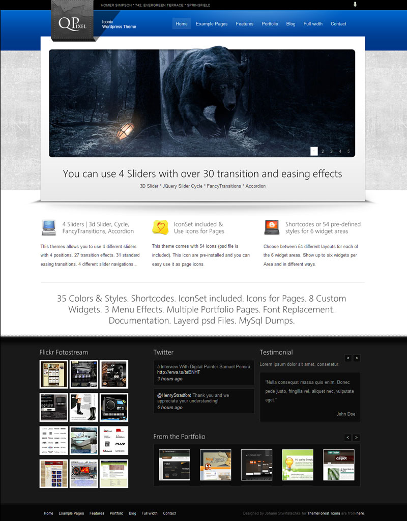 Iconix - Porfolio Blog Business CMS WP 35in1