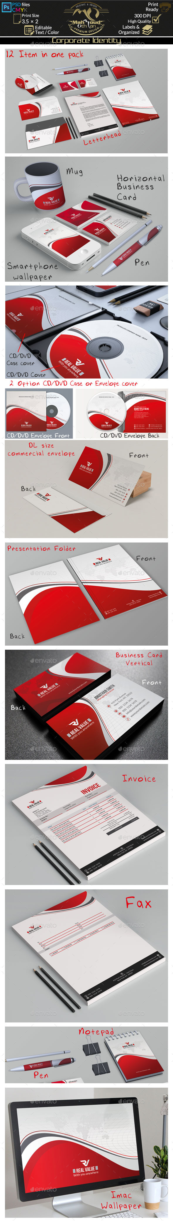GraphicRiver Red Corporate Identity 9243077