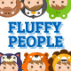 Fluffy People Characters Design Vector Pack - GraphicRiver Item for Sale