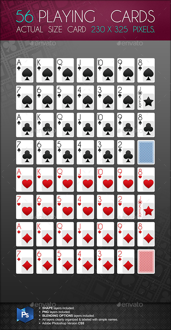 playing card template for photoshop. Black Bedroom Furniture Sets. Home Design Ideas