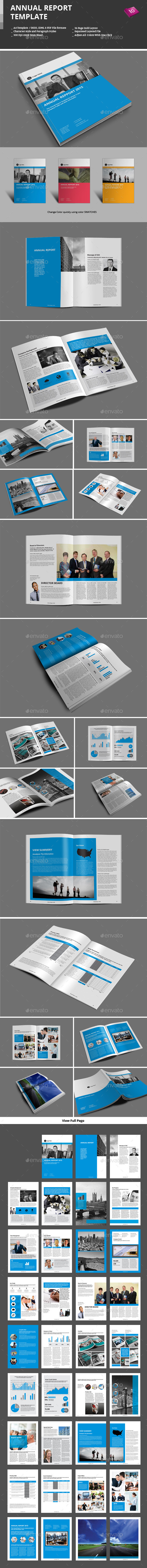 GraphicRiver Annual Report Template 9243197