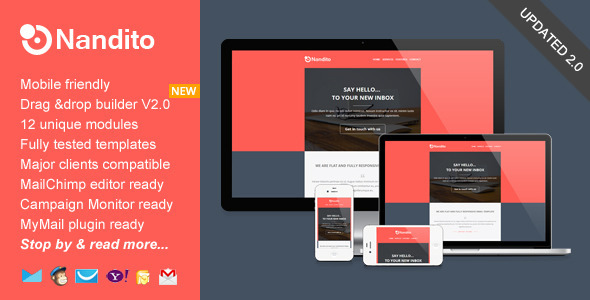 Nandito, Flat Responsive Email Template - Email Templates Marketing