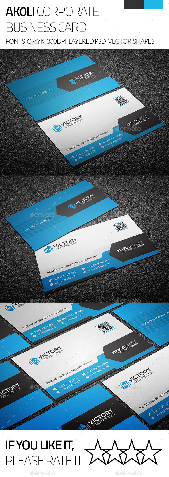 GraphicRiver Akoli & Creative Business Card 9243436