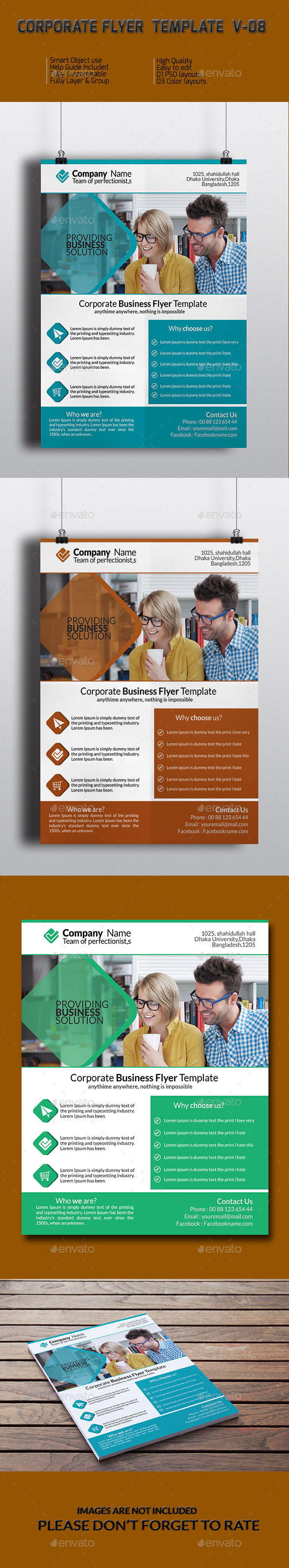 GraphicRiver Corporate Business Flyer Template V-08 9243484
