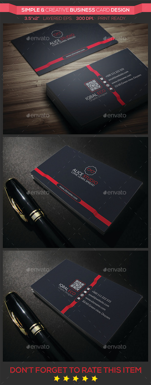 GraphicRiver Simple & Creative Business Card Design 9243486
