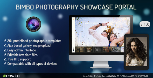 CodeCanyon Bimbo Photography Showcase Portal 9243506