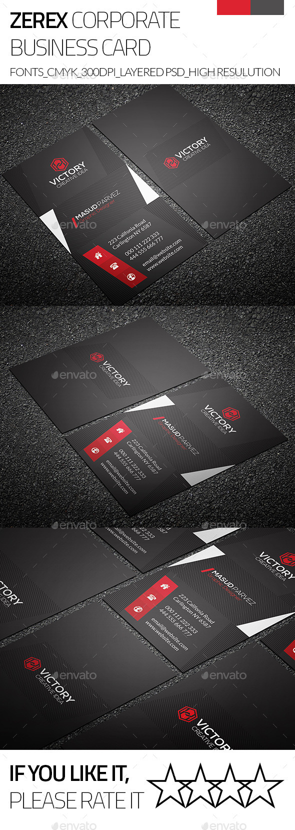 GraphicRiver Zerex & Corporate Business Card 9243513