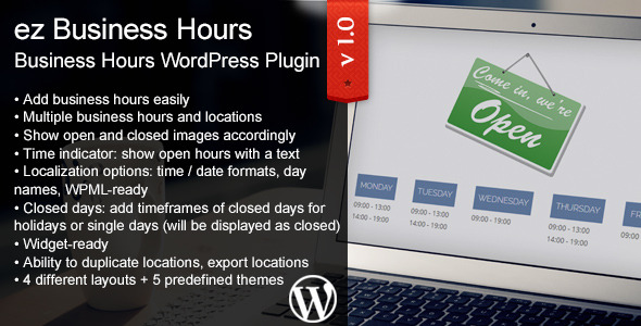 CodeCanyon ez Business Hours 9243554