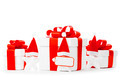 White gift boxes with red ribbons - PhotoDune Item for Sale