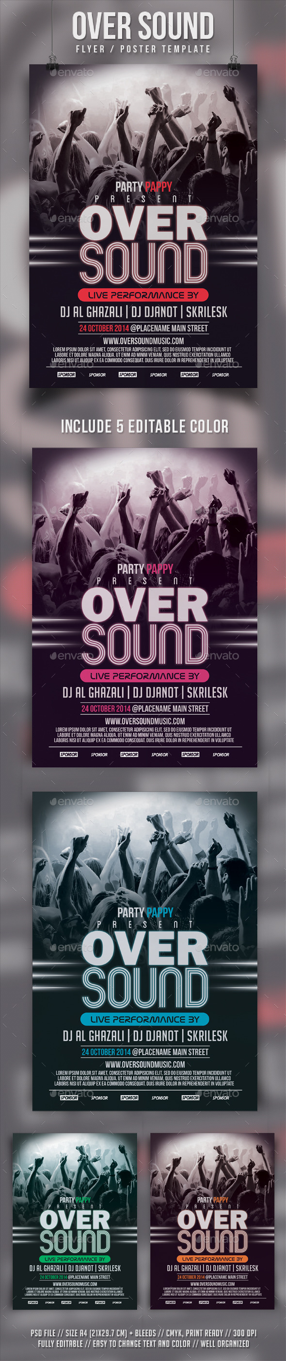 GraphicRiver Oversound Flyer Template 9243907