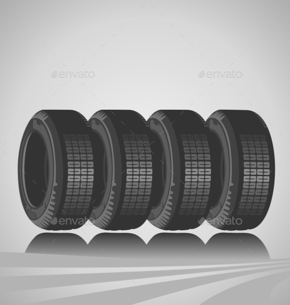 GraphicRiver Car Tires 9243948