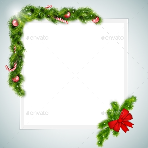GraphicRiver Blank Sheet of Paper With Christmas Attributes 9243953