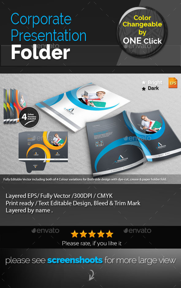 GraphicRiver Corporate Presentation Folder 9244120
