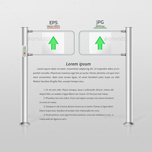 GraphicRiver Vector Illustration of Double Turnstile 9244135